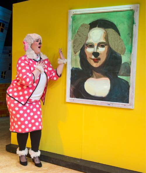 "Rick Egan  |  The Salt Lake Tribune  Olivia Custodio, in ""Art Dog,"" Salt Lake Acting Company's new annual play for kids.  Monday, November 23, 2015."