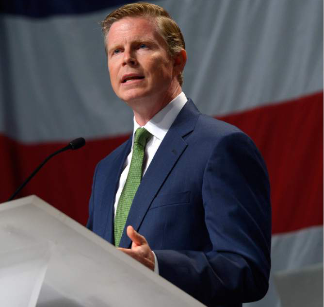 Leah Hogsten     Tribune file photo Governor candidate Jonathan Johnson said he is putting principle over prudence in trying to win his party's nomination at convention rather than through the new signature-gathering path opened by SB54.