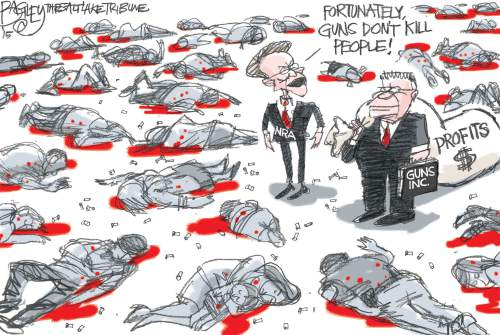Pat Bagley cartoon for Dec. 3, 2015.
