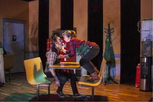 "Rick Pollock  |  Courtesy   Tyson Baker as Casey and Sarah Danielle Young as Alex in Rob Tennant's ""Booksmart."""