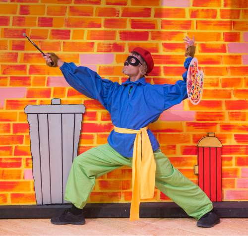 "Rick Egan  |  The Salt Lake Tribune  Alexis Baigue in ""Art Dog,"" Salt Lake Acting Company's new annual play for kids.  Monday, November 23, 2015."