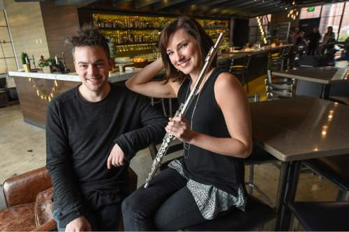 Francisco Kjolseth | The Salt Lake Tribune Musicians of the Utah Symphony (MOTUS) After Dark will present another late-night event at the popular downtown bar Under Current. Musicians like principal flutist Mercedes Smith with be playing music of Nico Muhly, left, Mozart, Brahms and more.