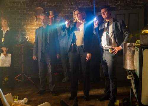 """Missi Pyle (center) and Hayes MacArthur (right) star in """"Director's Cut,"""" a genre-bending horror movie directed by Adam Rifkin and written by Penn Jillette. It will be the opening-night film at the Slamdance Film Festival, which runs Jan. 22-28 in Park City. Courtesy Slamdance Film Festival"""