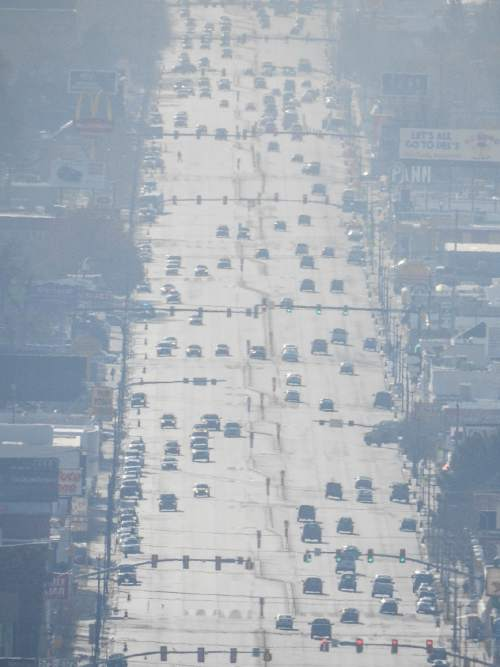 Trent Nelson  |  The Salt Lake Tribune The view of Salt Lake City's State Street, from the State Capitol Building, Tuesday December 8, 2015.