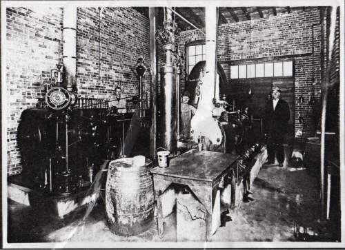 Courtesy  |  Lynne Olson  Engine and ammonia compressor, 1921.