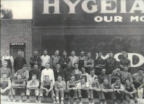 Courtesy  |  Lynne Olson  Workers at Hygeia, 1921.