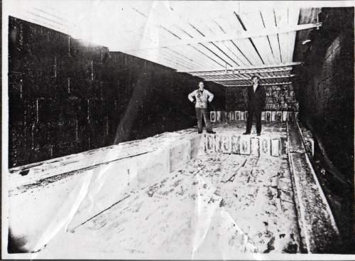 Courtesy  |  Lynne Olson  Storage room at Hygeia Iceland, 1921.