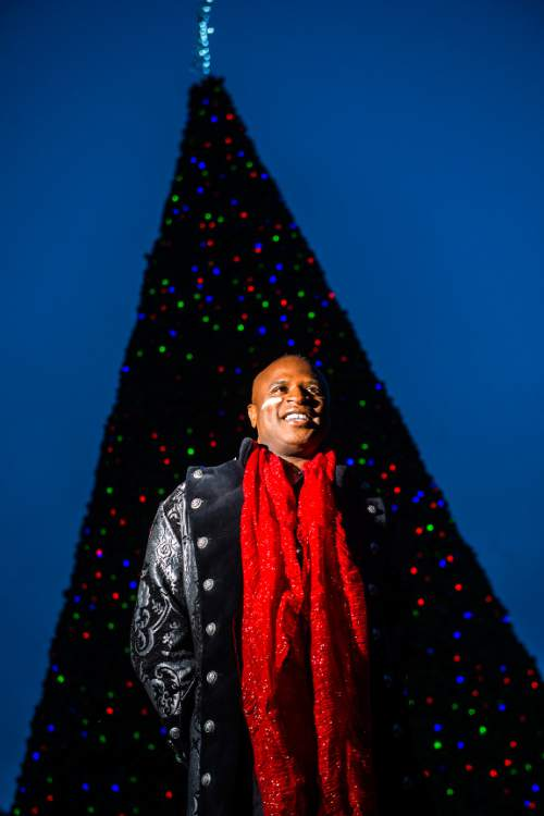 iChris Detrick  |  The Salt Lake Tribune Singer Alex Boyé poses for a portrait at the Gallivan Center Tuesday, Dec. 8, 2015.