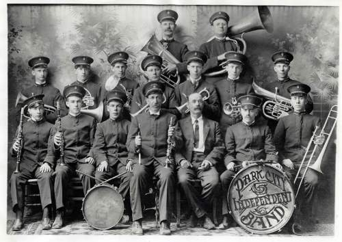 Tribune file photo  Park City Independent Band, 1915. The members of the band were: front row: George Gidley, Bill Blacker, Ray Bircumshaw, Alfred Blacker (leader), Willard Bircumshaw, Joe Marriott, Bill Lewis, middle row, sam Denver, Bert Thomas, Reed Johnson, Wid Bircumshaw, Tom Birbeck, jack Whitla, back row, Joe Kemp and Rex Walton.