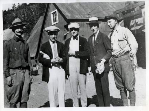 Tribune file photo  Charlie Chaplin, second from the left and without his trademark moustache, visits a mine in Park City on August 15, 1920.