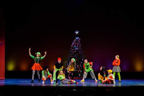 "Pioneer Theatre Company presents ""It Happened One Christmas,"" a show of holiday favorites, with new twists, and a cast of 28, conceived by Karen Azenberg and Kenneth Jones. It plays through Dec. 19. Alexander Weisman  