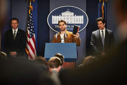 """Ricky Stormgren (Mike Vogel) is chosen to be the aliens' spokesman in """"Childhood's End."""" Ben King  