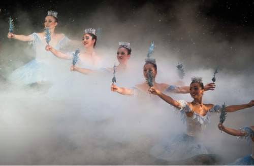 "Steve Griffin  |  The Salt Lake Tribune  Dancers preform during Ballet West's final dress rehearsal of ""The Nutcracker,"" at the Capitol Theatre in Salt Lake City, Wednesday, December 9, 2015."