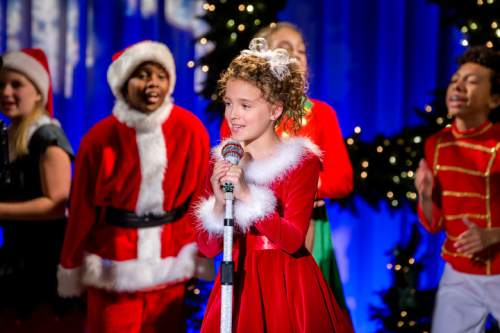 this photo provided by crown media shows fina strazza center in a scene from - Broadway Christmas Shows