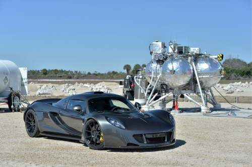 Hennessey Performance  |  Courtesy Photo Miller Motorsports Park Director Brian Smith sets a new speed record for a two-seat sports car in Cape Canaveral, Fla., on Valentine's Day. Smith reached 270.49 mph in the Venom GT before running out of real estate on the former Space Shuttle's landing strip.