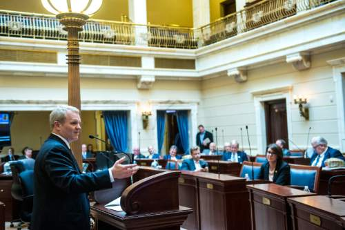Chris Detrick  |  The Salt Lake Tribune Utah Supreme Court Justice nominee John Pearce is speaks after being confirmed by the Senate at the Utah State Capitol Wednesday December 16, 2015.