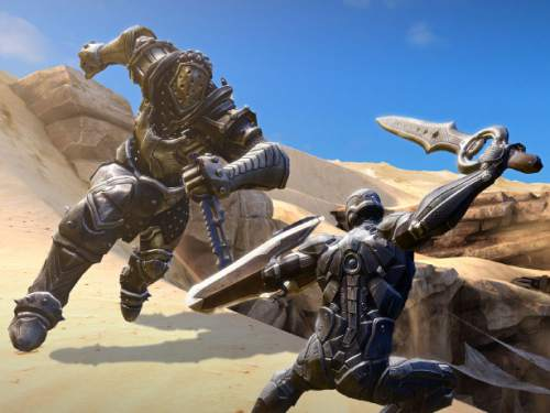 "| Courtesy  Screenshot from the video game, ""Infinity Blade III,"" made by South Jordan-based Chair Entertainment for the iPhone and iPad."