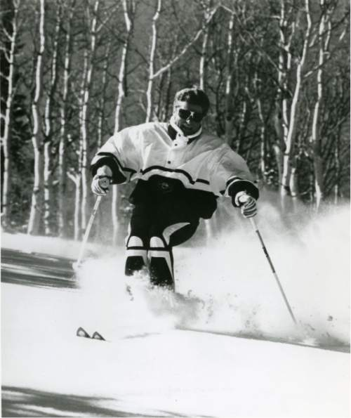 Tribune File |  Stein Eriksen, 1952 Olympian and longtime director of skiing at Deer Valley Resort, in an undated file photo. Eriksen died Sunday at 88.