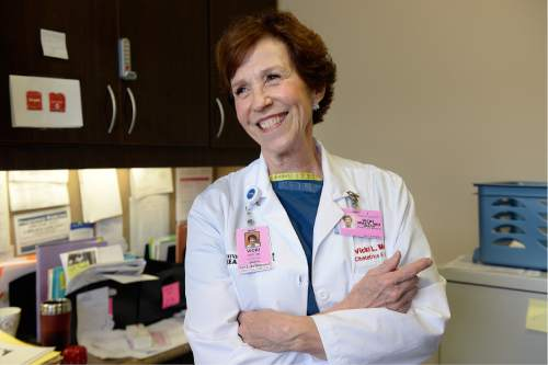 Scott Sommerdorf   |  The Salt Lake Tribune Dr. Vicki L. Macy, MD, OBGYN, at Salt Lake Regional Medical Center, Wednesday, September 30, 2015.