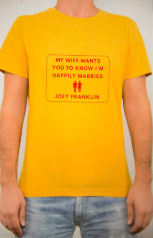 """My Wife Wants You to Know I'm Happily Married"" by Joey Franklin.  Courtesy image"