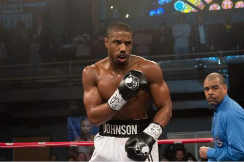 """This photo provided by Warner Bros. Pictures shows, Michael B. Jordan as Adonis Johnson in Metro-Goldwyn-Mayer Pictures', Warner Bros. Pictures' and New Line Cinema's drama """"Creed,"""" a Warner Bros. Pictures release. (Barry Wetcher/Warner Bros. Pictures via AP)"""