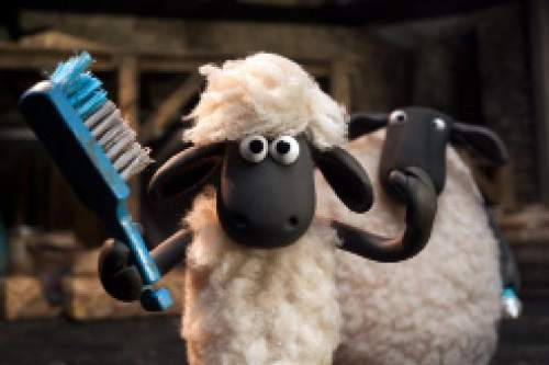 """This image released by Lionsgate shows a scene from """"Shaun the Sheep Movie."""" The film was nominated for a Golden Globe award for best animated film on Thursday, Dec. 10, 2015. The 73rd Annual Golden Globes will be held on Jan. 10, 2016. (Lionsgate via AP)"""