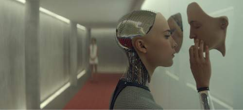 """Alicia Vikander portrayed Ava, an android blurring the lines of artificial intelligence, in the thriller """"Ex Machina."""" Courtesy  