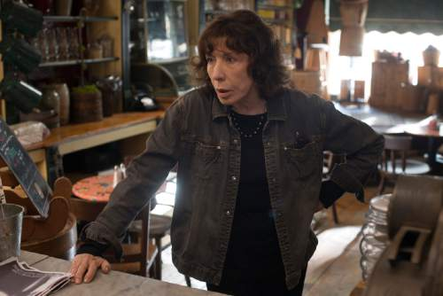 """Lily Tomlin plays Elle, a feminist poet helping her granddaughter in the comedy-drama """"Grandma."""" Courtesy Sony Pictures Classics"""