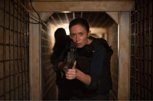 """Emily Blunt plays an idealistic FBI agent, caught in the world of fighting Mexican drug cartels, in the drama """"Sicario."""" Richard Foreman Jr.  