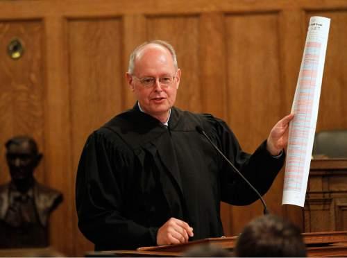 Al Hartmann  |  Tribune file photo Judge David Nuffer
