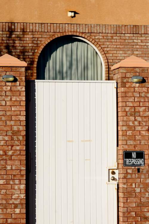 "Trent Nelson  |  The Salt Lake Tribune FLDS leader Lyle Jeffs lives in the large Jeffs compound, known as ""the block"", in Hildale, Wednesday December 2, 2015."