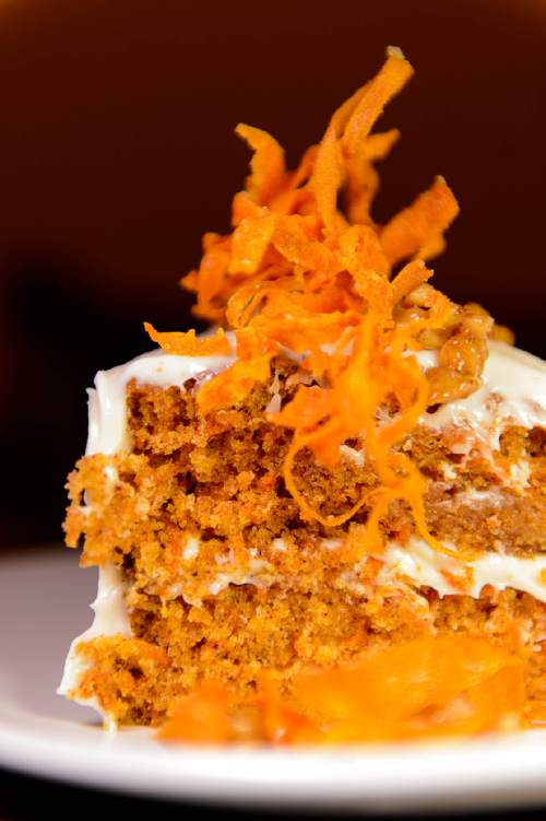 Trent Nelson  |  The Salt Lake Tribune The Carrot Cake at Porch, a Southern-inspired restaurant located in Daybreak's SoDa Row in South Jordan.