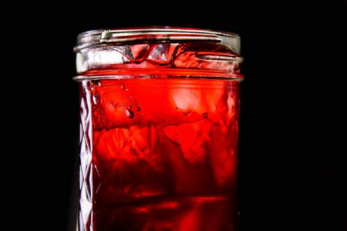Trent Nelson  |  The Salt Lake Tribune The Red Beet and Pink Peppercorn Shrub, a drink at Porch, a Southern-inspired restaurant located in Daybreak's SoDa Row in South Jordan.
