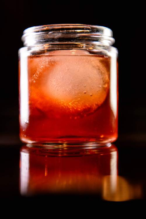 Trent Nelson  |  The Salt Lake Tribune The Smoked Old Fashioned, a drink at Porch, a Southern-inspired restaurant located in Daybreak's SoDa Row in South Jordan.