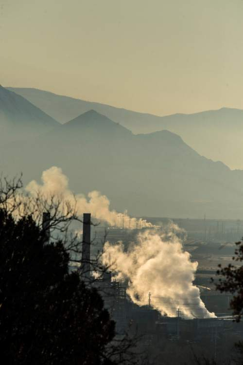 Chris Detrick  |  The Salt Lake Tribune A pollution inversion over the Salt Lake Valley Tuesday December 1, 2015.