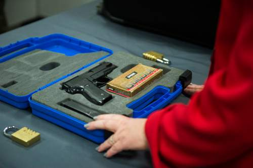 "Chris Detrick  |  Tribune file photo A bill advanced to the full House on Monday would limit liability of gun makers and manufacturers. They only could be sued for a death or injury in cases of ""gross negligence, recklessness or intential misconduct."""