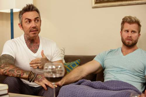 Brandon Liberati and Craig Ramsay in ìNewlyweds: The First Year.î  Photo by: Nicole Wilder/Bravo