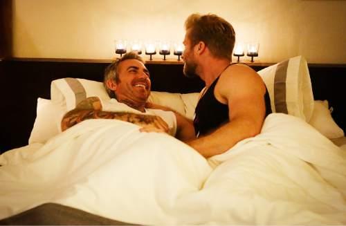 "Brandon Liberati and Craig Ramsay in ""Newlyweds: The First Year.""  Photo by: Nicole Wilder/Bravo"