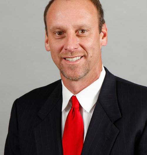 Tom Smart  |  University of Utah Athletics  Larry Krystkowiak, Utah men's basketball coach  Tuesday, Sept. 27, 2011,in Salt Lake City Utah.
