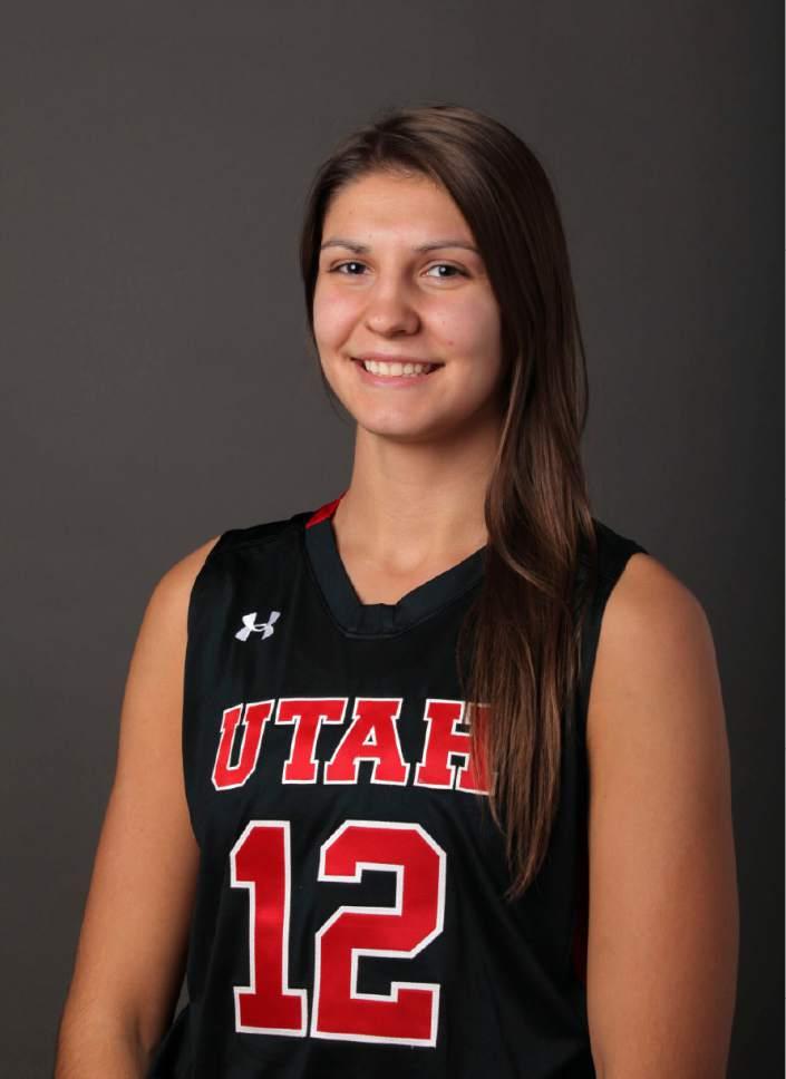 Emily Potter, Utah Women's Basketball Oct. 2, 2014 in Salt lake City, Utah. (Steve C. Wilson/University of Utah)