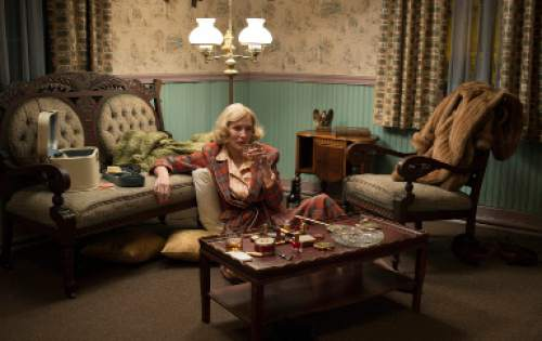 "This photo provided by The Weinstein Company shows, Cate Blanchett, as Carol Aird, in a scene from the film, ""Carol.""   (Wilson Webb/The Weinstein Company via AP)"