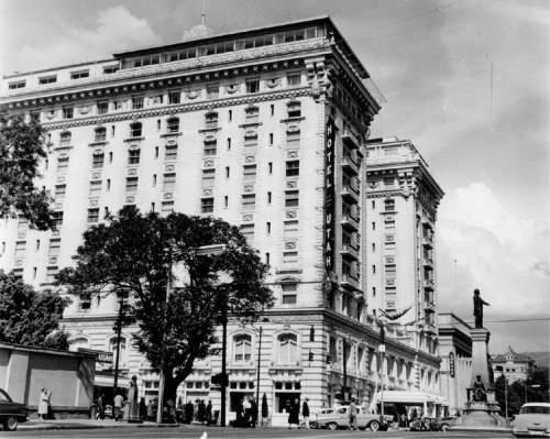 Tribune File Photo Hotel Utah in Salt Lake City. June 4, 1962.