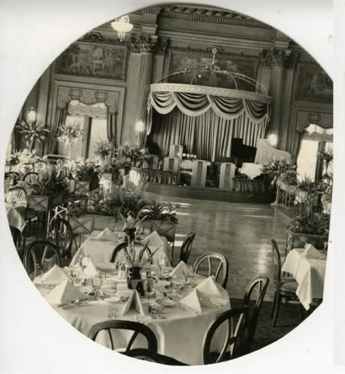 file photo  |  The Salt lake Tribune  Hotel Utah Empire Dining Room in 1937.