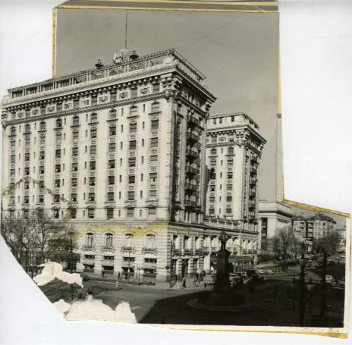 Tribune File Photo  1938 cutout of the Hotel Utah.