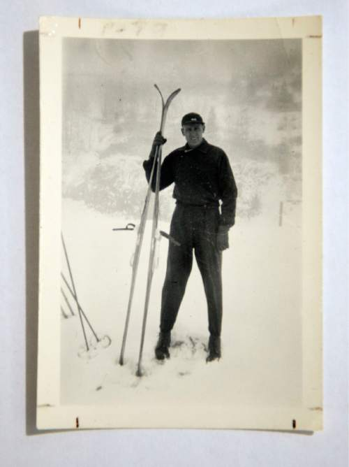 Photo courtesy of the family of Otto Carpenter  Otto Carpenter was fond of skiing and ski jumping long before he and Bob Burns build Snow Park by hand in 1947. Carpenter used to jump at Ecker Hill with Alf Engen.