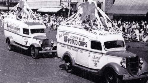 Clover Club delivery trucks in the 1940s were are part of the July 24th parade. Courtesy  |  Heritage Museum of Layton