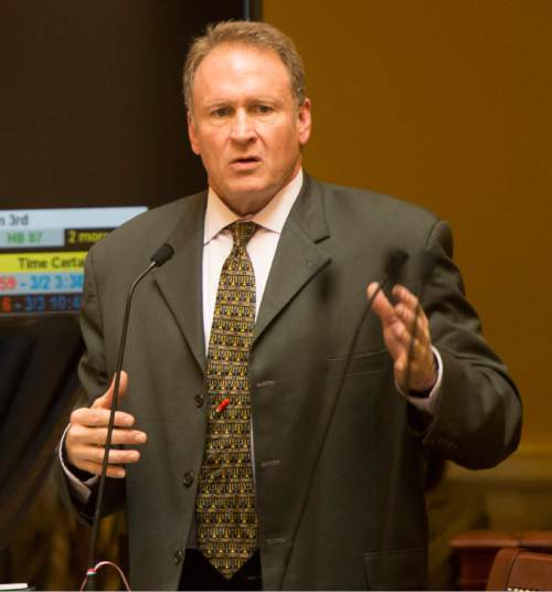 Rick Egan  |  Tribune file photo  Sen. Mark Madsen, R-Saratoga Springs, is sponsoring a medical marijuana bill that would set up a regulatory system from seed to sale and patients with qualifying ailments would be certified for legal possession and use.