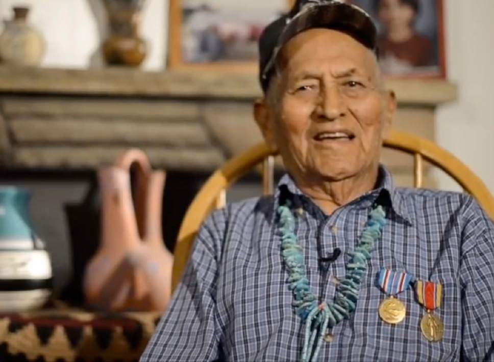 | Courtesy Utah National Guard  Corporal Ernest Yazhe, who was a Navajo Code Talker during World War II.