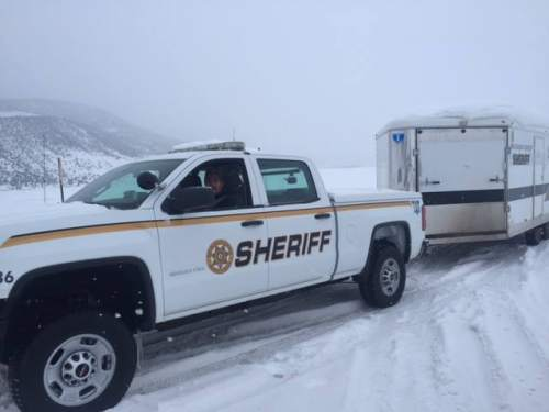 Courtesy     Courtesy Rio Blanco County Sheriff's Office  Officials are looking for a plane that took off from Salt Lake City and crashed in Colorado.
