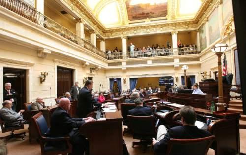 Leah Hogsten  |  Tribune file photo The Senate chamber during a recent session of the Utah Legislature.
